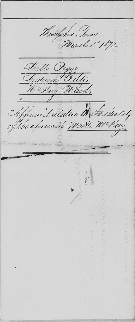 Wells Peggy and David Affidavit of Identity R 53 P 513